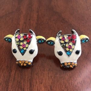 Jewelry - Adorable colorful cow earrings.